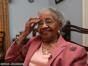 Ann Nixon Cooper, daughter of a slave, a hot 106 years old!